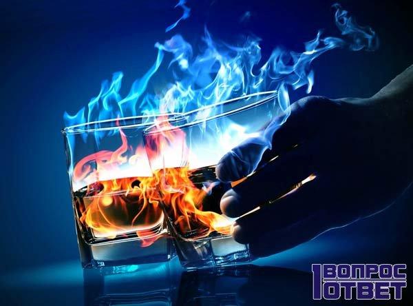 Спирт горит синим пламенем