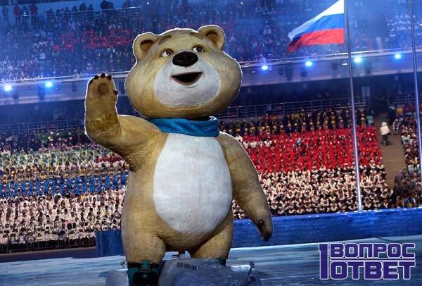 Талисман олимпийских игр - Мишка