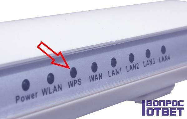 Кнопка «WPS» на роутере белом