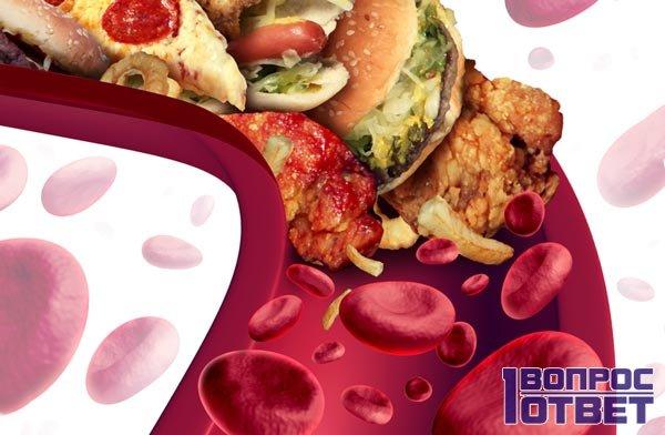 Холестерин выходит из крови