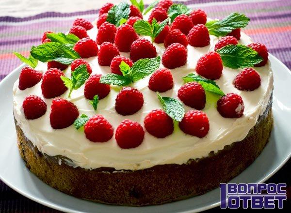 Тортик с малиной