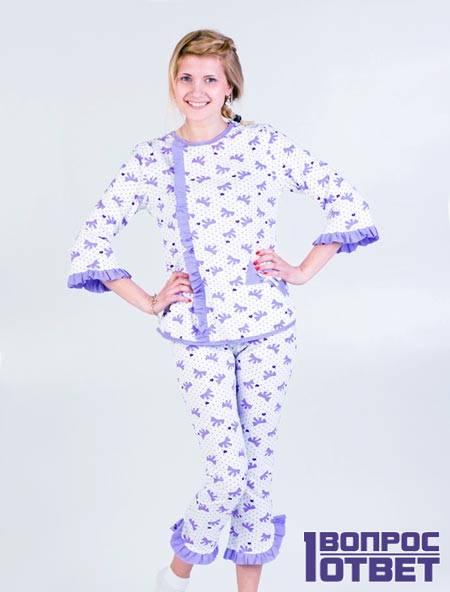 Пижама на девушке из кулирки