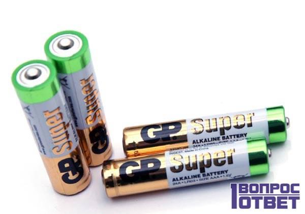 Алкалиновые батареи GP