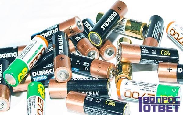 Щелочные аккумуляторы разных брендов