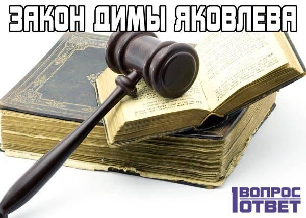 В чем суть закона Димы Яковлева?
