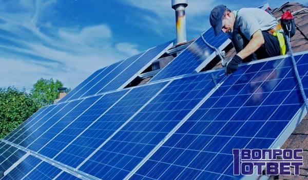 Монтирование солнечной системы отопления частного дома