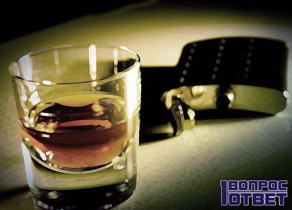 Виски без колы с фляжкой