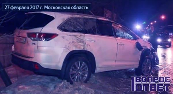 Авто Караченцова после аварии