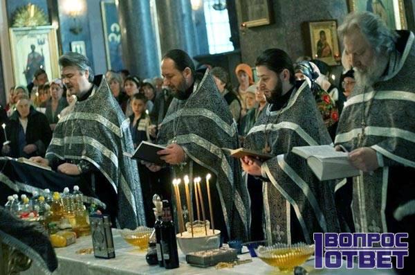 Елеосвещение в церкви