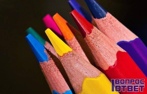 Грифели от цветных карандашей