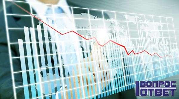 Экономический график падения