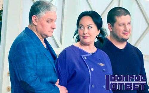 Бухаров и Гузеева на передаче