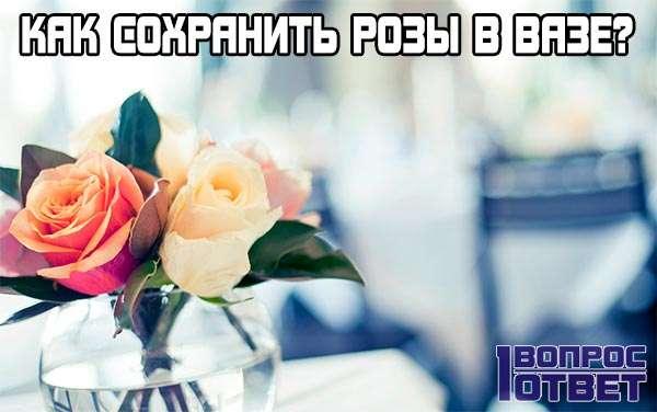 Как можно сохранить розы в вазе?