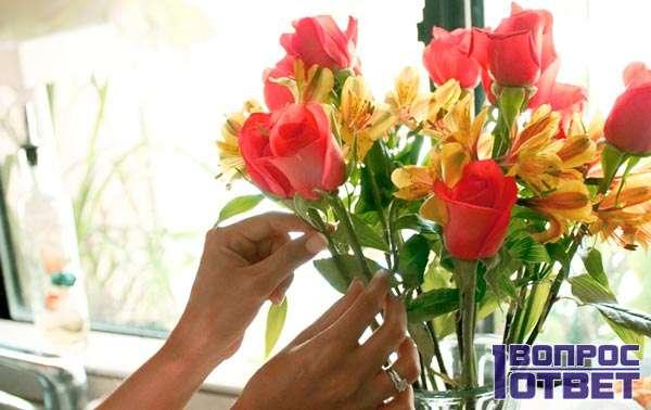 Сохранение роз - букет
