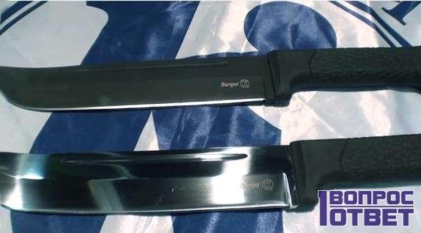 Особенности ножа