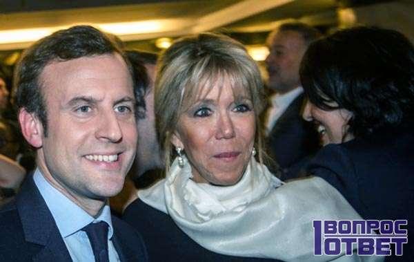 Со своей женой - Бриджит Троньё