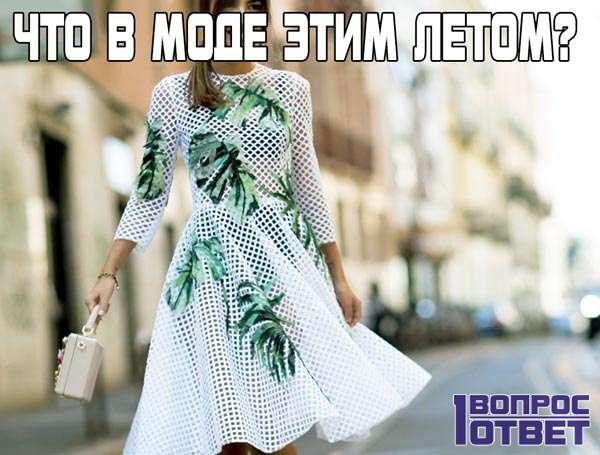 Что модно летом в этом году?