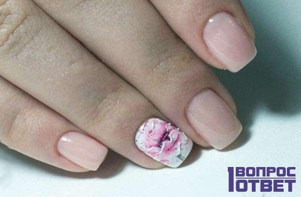 Ногти цвета nude