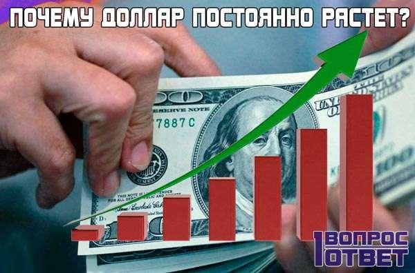 Почему доллар все время растет?