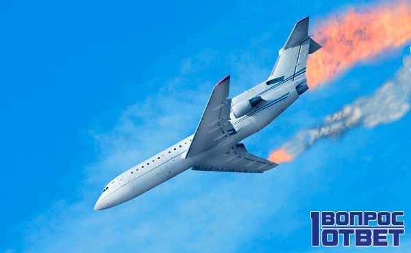 Падение самолета - крушение
