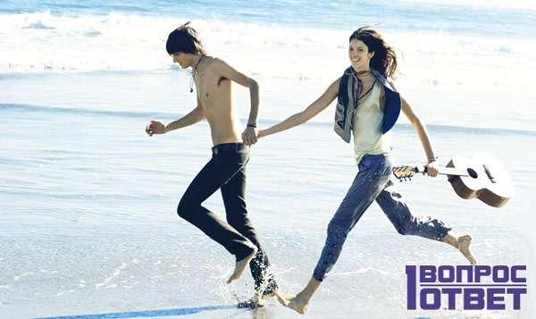 Пробежка с любимой по берегу