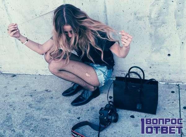 Девушка - модная модель