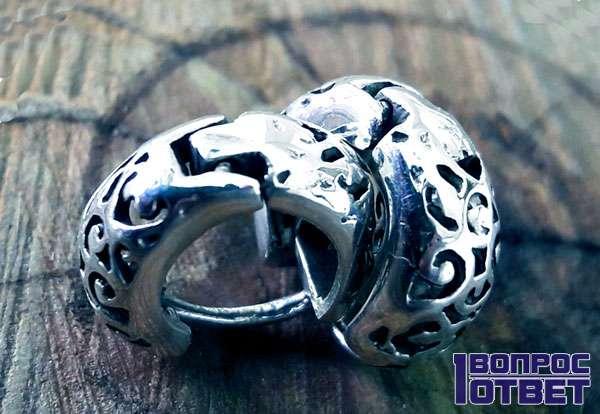 Серебряное кольцо из Китая
