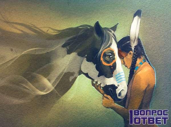 Индеец и лошадь