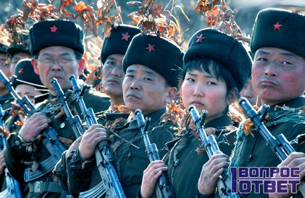 Корейцы и день армии