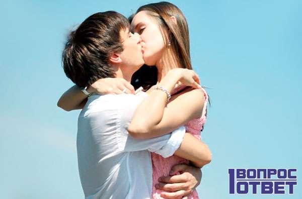 Длительный поцелуй в губы