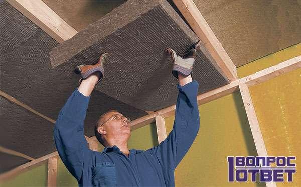 Утепление и шумоизоляция потолка
