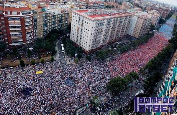 Сепаратисты вышли на улицы