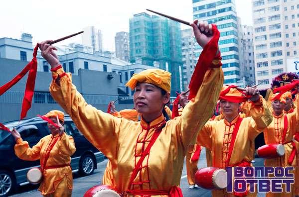 Практикующие китайское движение