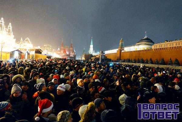 Празднование на Красной Площади