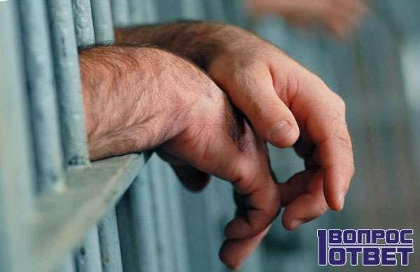 Руки осужденного из решетки
