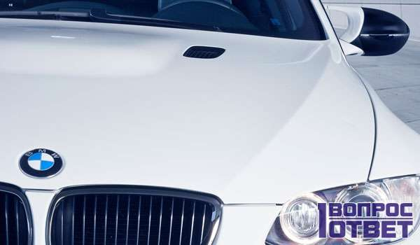 Бело-голубой логотип БМВ