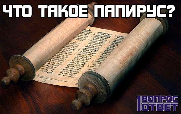 Что такое папирус?