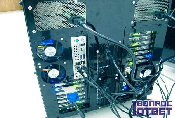 Компьютер с двумя видеокартами для майнинга эфира