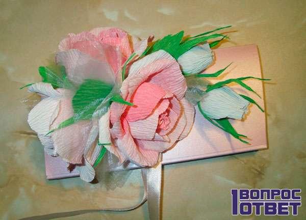 Подарок своими руками - открытка с розами