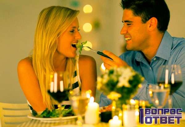 Романтический ужин с женой дома
