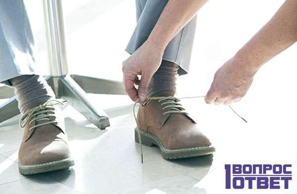 Использование обуви увеличенной изнутри
