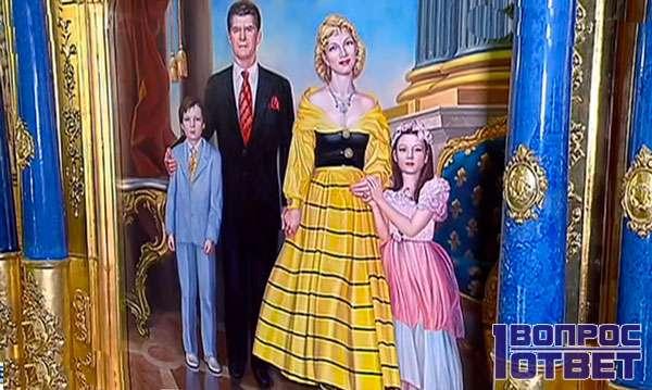 Рисунок на стене дворца Владимира Алексеевича