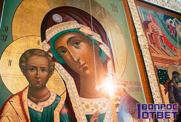 Икона Божьей матери - оригинал