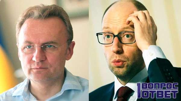 Кандидаты в президенты Украины - Яценюк и Садовой