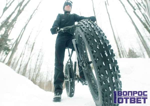 Езда по снегу на широкой резине