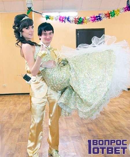 Венцеслав с невестой на бракосочетании