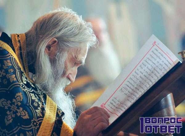 Старец читает библию
