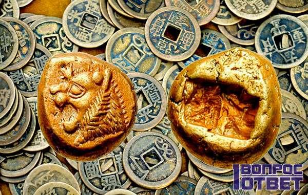 Первые древние монеты