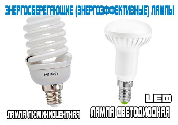 Два вида энергоэффективных ламп