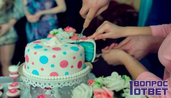 Тортик с синей начинкой - значит сын